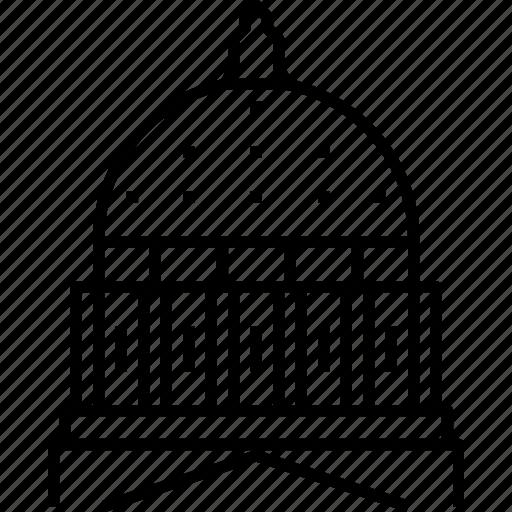 capitol, dome, harrisburg, pennsylvania icon