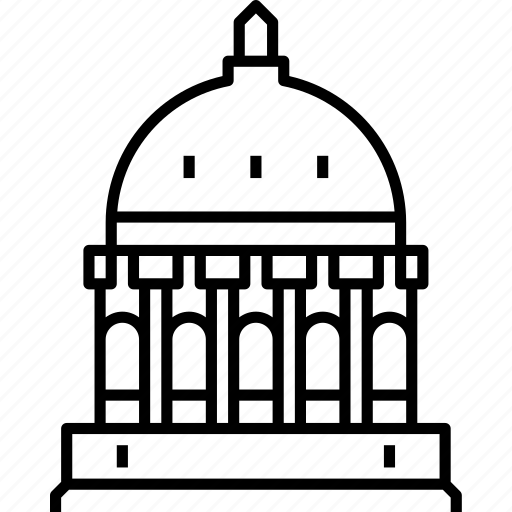 capitol, jefferson city, missouri, usa icon