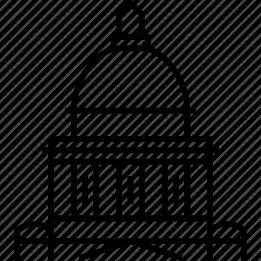 arkansas, capitol, little rock, state, usa icon