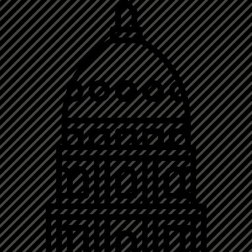 kansas, state capitol, topeka, usa icon