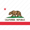 california, flag, america, state