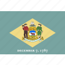 american, delaware, flag, state