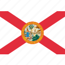 america, flag, florida, state icon