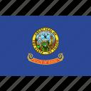 american, flag, idaho, state