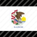 america, flag, illinois, state