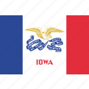 flag, iowa, state, us