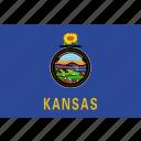 american, flag, kansas, state