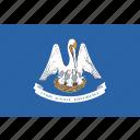 flag, louisiana, state, usa