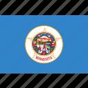 flag, minnesota, state, us