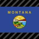 flag, montana, state, usa