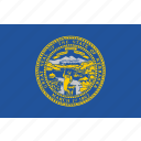 flag, nebraska, state, us