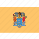 flag, jersey, new, state, usa