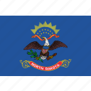 dakota, flag, north, state, usa
