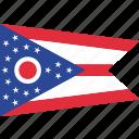 flag, ohio, state, us