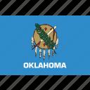 american, flag, oklahoma, state icon