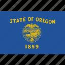 america, flag, oregon, state