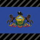 flag, pennsylvania, state, usa