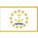 flag, island, us, rhode, state