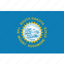 flag, south, dakota, america, state