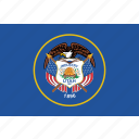 america, flag, state, utah