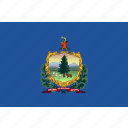 flag, state, usa, vermont