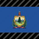 flag, state, usa, vermont icon