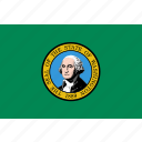 american, flag, state, washington icon