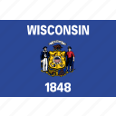 flag, state, usa, wisconsin