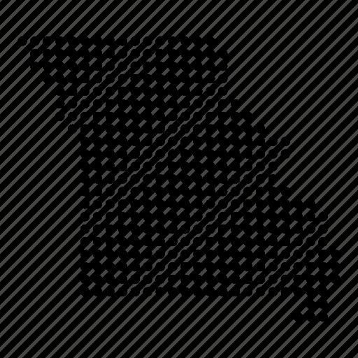 american, location, map, missouri, region, state icon