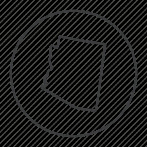 american, arizona, location, map, navigation, state, united states icon