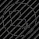 america, gps, louisiana, map, navigation, state, united states icon