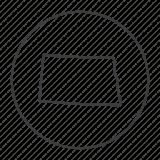america, location, map, navigation, north dakota, state, united states icon