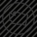 american, gps, location, map, navigation, state, washington icon