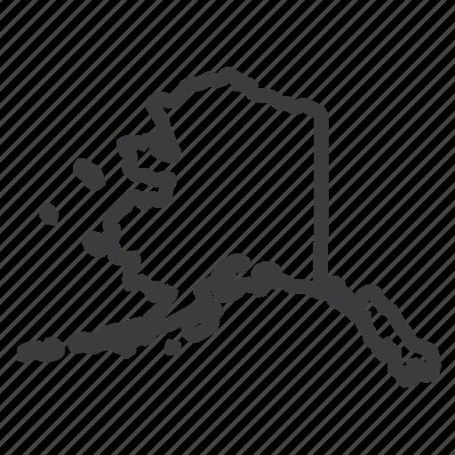 alaska, american, location, map, navigation, state, united states icon