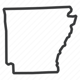 american, arkansas, gps, map, navigation, state, united states icon