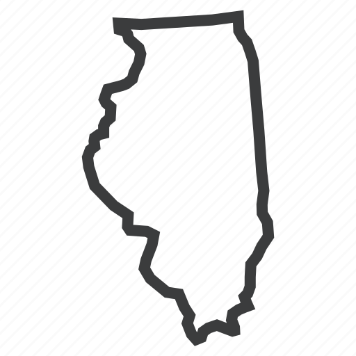 gps, illinois, location, map, navigation, state, united states icon