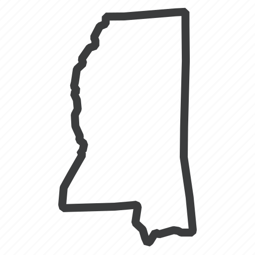 american, location, map, mississippi, navigation, state, united states icon