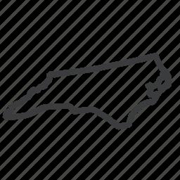 carolina, location, map, navigation, north, state, united states icon