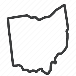 american, location, map, navigation, ohio, state, united states icon