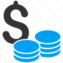 business, cash, coins, currency, finance, money, wealth icon