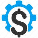 business, finance, financial industry, options, service, settings, technology icon