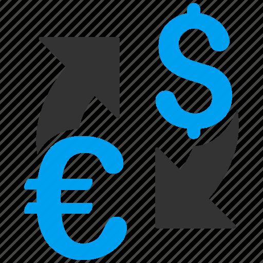 change, currency exchange, dollar, euro, finance, forex market, money icon