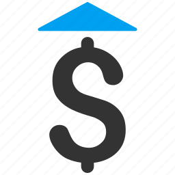 bid, dollar, growth, increase, money, price up, set rate icon