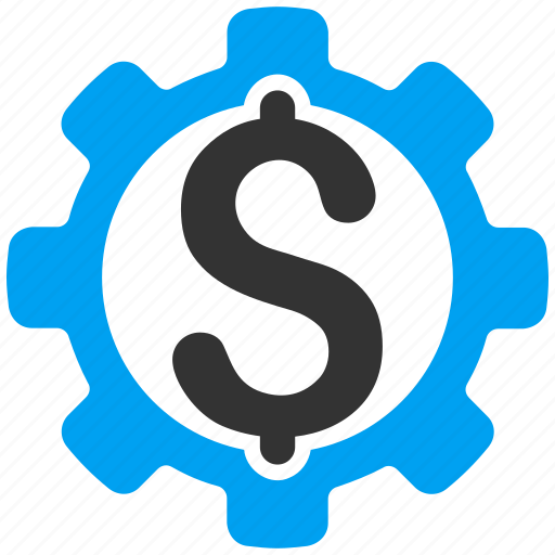 business, development price, dollar, factory, gear, money, settings icon