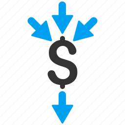 aggregate, aggregator, collect, combine payments, income, money transfer, payment icon