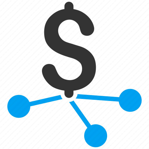 bank branches, banking, dollar, financial transactions, links, payments, payouts icon