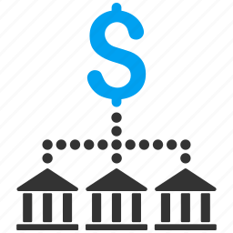bank scheme, banking, company, finance, financial holding, group, payment icon