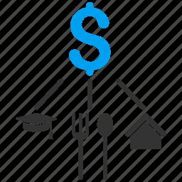 budget, cashflow, consumption pattern, diagram, expenses, flow chart, structure icon