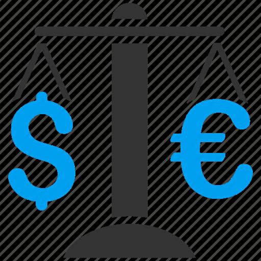 balance, business, currency exchange, dollar, euro, finance, money icon