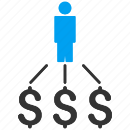 business man, businessman, cash flow, financial, payments, person expenses, user icon